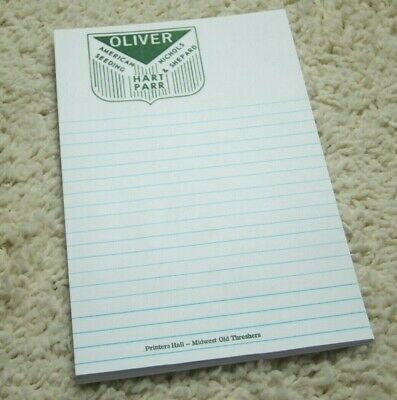 Oliver Hart Parr note pad printed by antique printing press letterpress 36 pgs