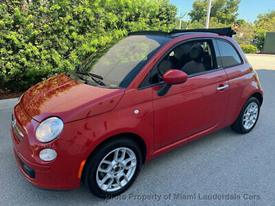 2015 FIAT 500c Convertible POP Fiat 500c Convertible POP Sport Package 5-Speed One Owner Low Miles Clean Carfax