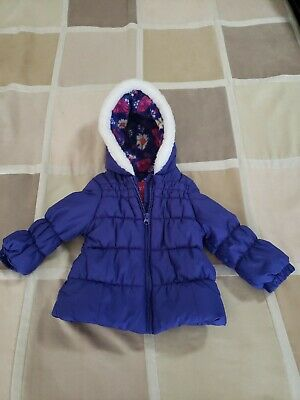 LONDON FOG Baby Girls Purple Jacket with hood Size 18 Month