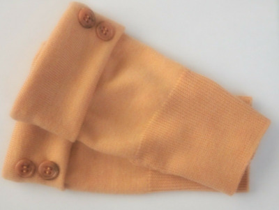 Fingerless Gloves Orange Women's Merino Wool Cashmere Size Medium - Large M  L