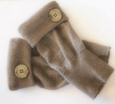 Fingerless Gloves Brown 100% Merino Wool Women's Size S - M Small - Medium S M /