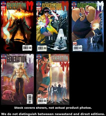 Generation M 1 2 3 4 5 Marvel 2005 Complete Set Run Lot 1-5 VF/NM