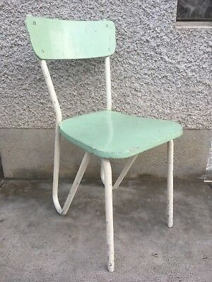 PAIRE CHAISES design 50 style prefacto de guariche ? 2 chairs