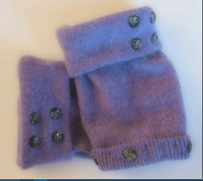 Fingerless Gloves Lavender Purple Women's 100% Cashmere One Size Fits Most S M L