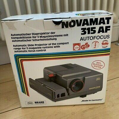 35mm Slide Projector Novamat 315 Autofocus with magazine