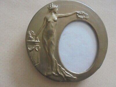 Outstanding Antique Brass Art Deco Picture Frame ( Complete And Perfect ) 921Bd