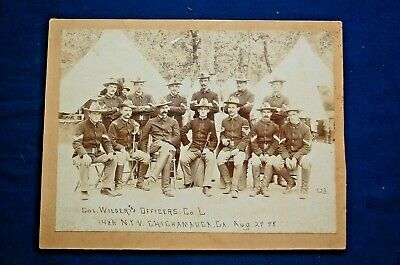 Large Cabinet Photo of Col. Wilder and Officers, Co.L., 14th N.Y.V. 1898