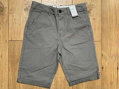 Matalan Boys Shorts Age 12 Years Grey Adjustable Waist Brand New With Tags