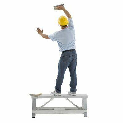 Pentagon Tool Professional Aluminum Drywall Bench Adjustable Lift Step