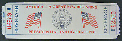 Roll, hundreds of Drink Tickets - Presidential Inauguration 1981 (Ronald Reagan)