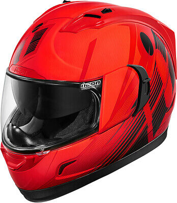 Icon Alliance GT Primary Full Face Street Helmet Red Adult All Sizes