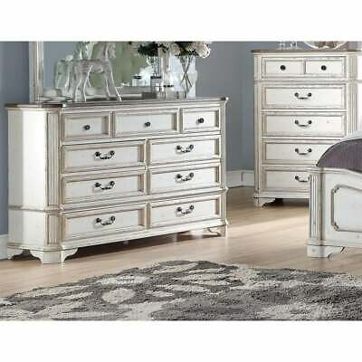 Best Master Furniture Antique White 7-drawer Dresser N/A 7-drawer