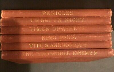 1890s Antique Set of 6 SHAKESPEARE's Plays Ed. William J. Rolfe Auction