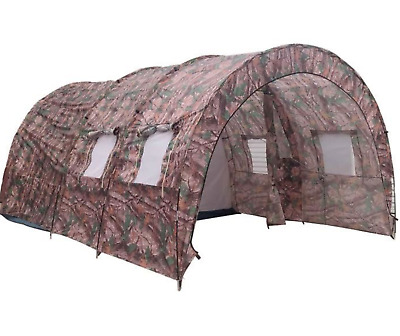 Tente Camping Randonnee Familiale Militaire Tunnel Grand Impermeable Camouflage