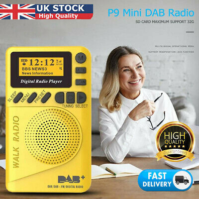 1.5in Portable Pocket Personal DAB/DAB FM Digital Radio Rechargeable Battery UK