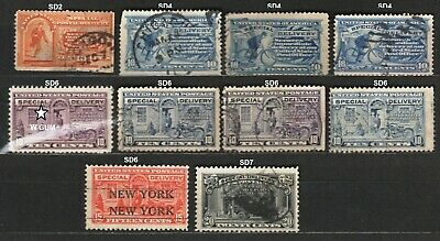 US - 1885 à 1922 - SPECIAL DELIVERY STAMPS.