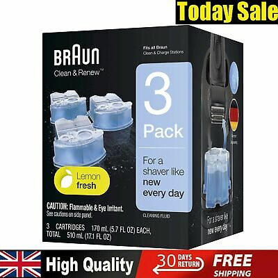Braun Clean Renew Refill Cartridges Electric Shaver Hygienic Cleaning Pack Of 3