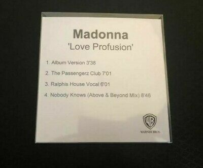 Madonna - Love Profusion - Mega Rare Remix CD Promo (4 Tracks)