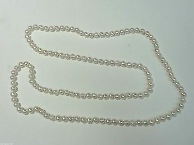 "6 mm 34"" Continuous Strand Pearl Necklace"