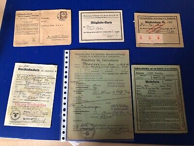 Ww2  German Collection Of 6 Documents  G23