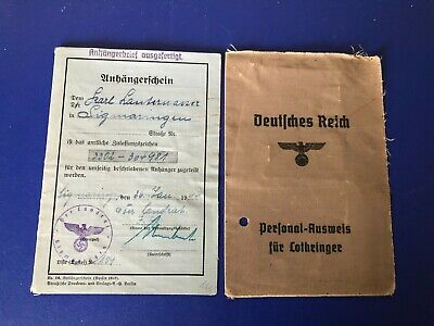 Ww2  German Collection Of 2  Documents  G28