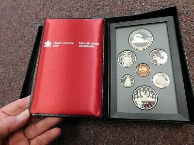 1986 Royal Canadian Mint Double Dollar Proof Set With Box & Coa