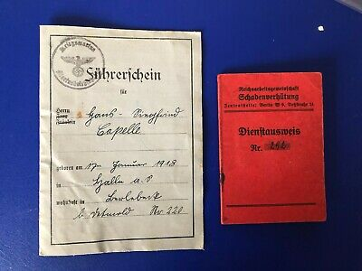 Ww2  German Collecton Of 2 Documents G32