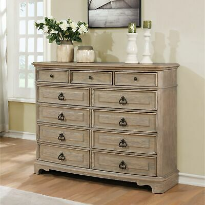 Piraeus 296 11 Drawers White Wash Dresser Oak 11-drawer