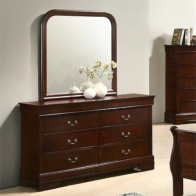 Isola Louis Philippe Style Fully Assembled Wood Dresser and Cherry 6-drawer