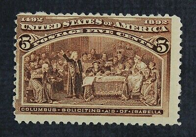 CKStamps: US Stamps Collection Scott#234 5c Columbian Mint NH OG
