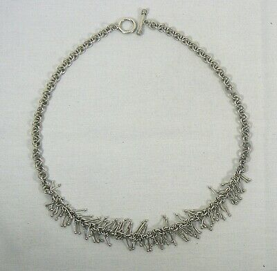Sterling Silver Link Chain .925 Necklace Toggle clasp