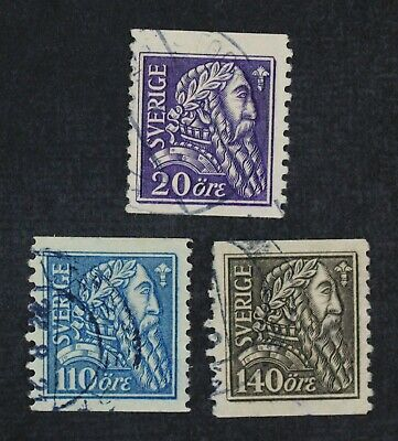 CKStamps: Sweden Stamps Collection Scott#194-196 Used