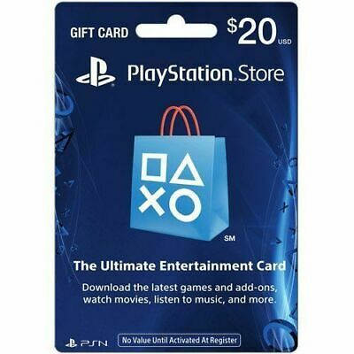 PlayStation Network Email Gift Card 20 USD PSN UNITED STATES USED
