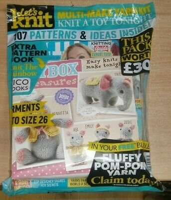Let's Knit magazine #159 Jul 2020: 107 patterns ideas &more +Toybox tresure kits