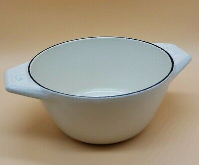 Vintage AGA Round Cast Iron Ivory Cream Gloss Casserole Dish Serving Bowl NO LID