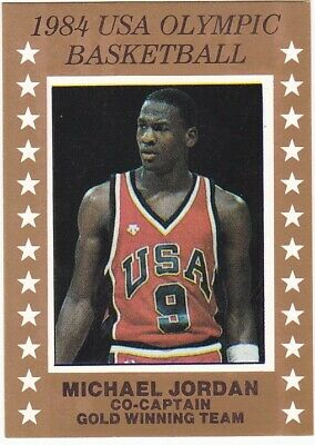 1984 USA Olympic Basketball Michael Jordan Rookie Card