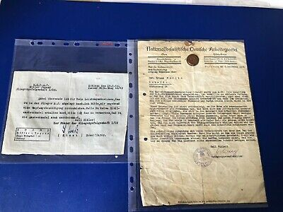Ww2  German Collection Of 2 Documents R1