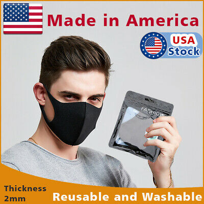 Black Face Fashion Mask Washable Reusable Unisex Adult MASK Made  IN USA