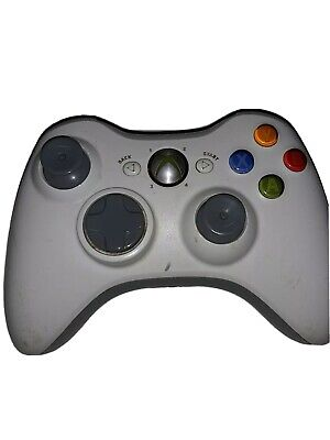 Official Microsoft Xbox 360 White Wireless Controller Genuine Original tested