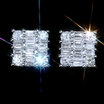 1.2Ct Natural Diamond 14K White Gold Cocktail Earrings EFFECT 2Ct EWG100