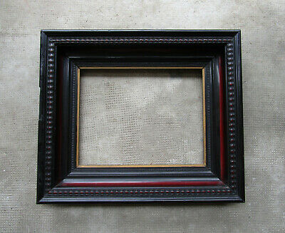 Antique Beautiful Frame Wooden Blackened & Mahogany Dimensions Of Rabbet:
