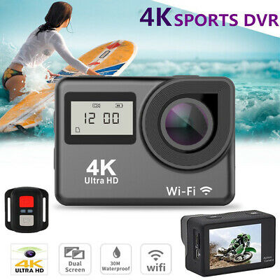 4K WiFi Action Camera HD 1080P Touch Screen Waterproof Sport Travel Camcorder