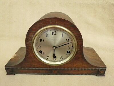 Small Vintage Westminster Chime Napoleon Hat Mantel Clock For Tlc