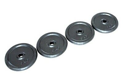 Opti Circular Cast Iron Weight Plates 4x 5kg Barbell Brand New 20kg Gym 1 Inch