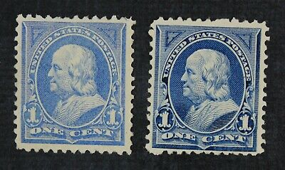 CKStamps: US Stamps Collection Scott#246 247 1c Franklin Mint H OG