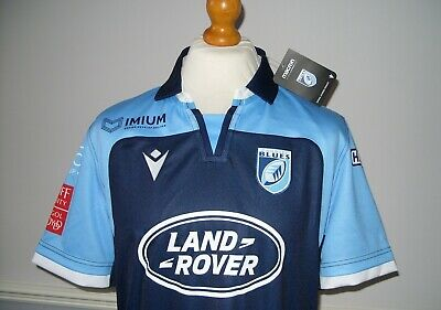 Large Cardiff Blues Official Macron 2019 - 2020 Home Jersey *Bnwt Second*