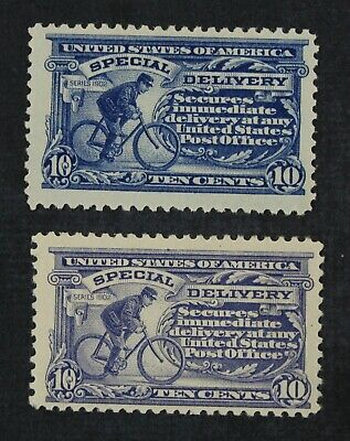 CKStamps:US Special Delivery Stamps Collection Scott#E11 Mint 1NH 1LH OG 2 Shade