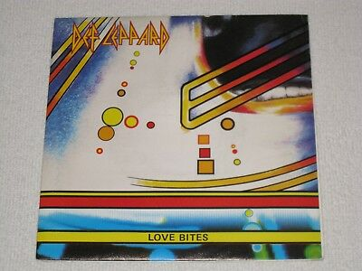 Def Leppard Love Bites Spanish Original Issue Spain Tour Dates On Back Cover 7""