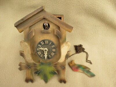 Small Vintage German Cuckoo Clock For Spares Or Repair