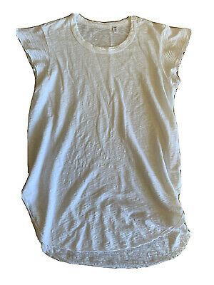 Wilt ~ Women's  White  Raw Edge  Slub  Tee ~ Size Medium  New Usa